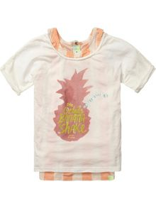 Scotch R'Belle Girls cropped tee & inner tanktop