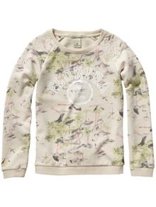 Scotch R'Belle Girls Crewneck Sweat With Food Artwork