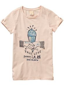 Scotch R'Belle Girls Short Sleeve Artwork Tee