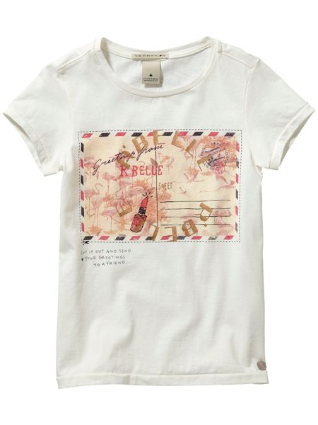 Scotch R'Belle Girls Postcard Tee