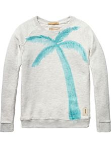Scotch Shrunk Boys Sweat With Palmtree Artwork