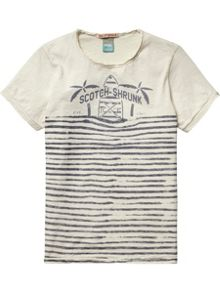 Boys Garment dyed tee with artworks