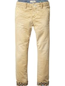 Scotch Shrunk Boys Worker Chino With Double Waistband