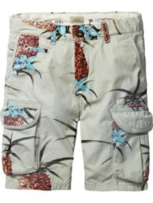 Scotch Shrunk Boys Cargo Shorts With Tape Detailing