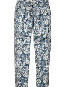 Girls All-Over Printed Silky Feel Pants