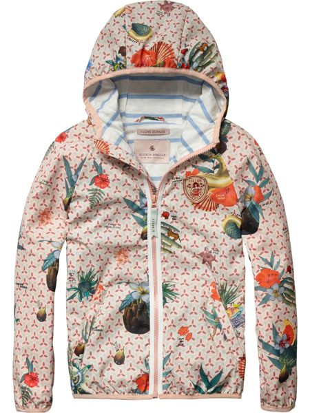 Scotch R'Belle Girls All-Over Photo Printed Jacket