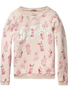 Scotch R'Belle Girls Crewneck sweat with artworks