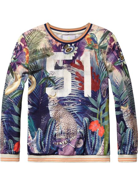 Scotch R'Belle Girls All-Over Photo Printed Sweat