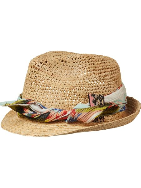 Scotch R'Belle Girls Straw hat with detachable headb