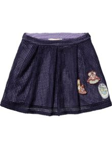 Girls Mesh Skirt With Badges