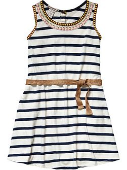 Girls Jersey Dress And Belt