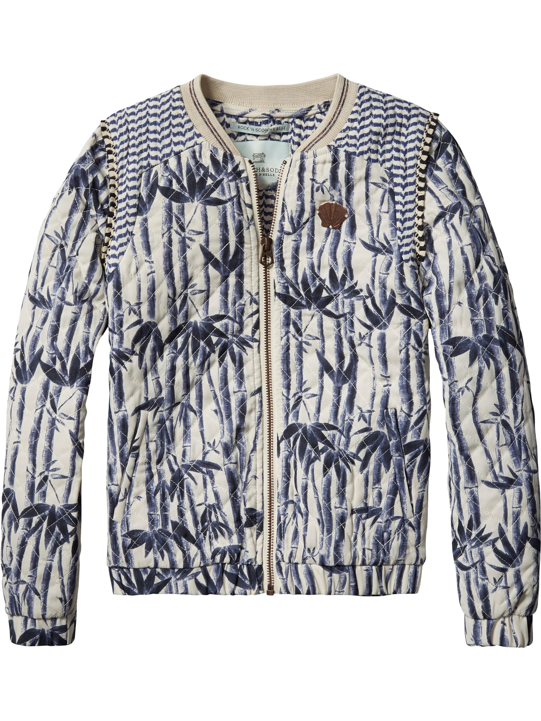 Scotch R'Belle Scotch R'Belle Girls Quilted Printed Jacket, Blue