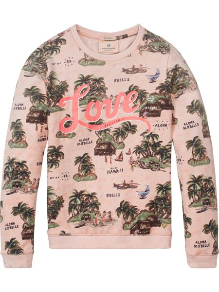 Scotch R'Belle Girls All-Over Printed Sweat