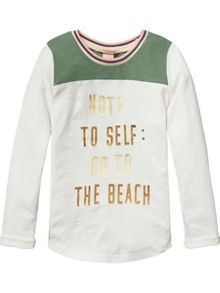 Scotch R'Belle Girls Colour Block L/S Tee