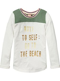 Girls Colour Block L/S Tee