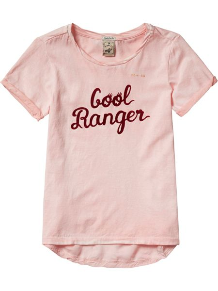 Scotch R'Belle Girls Dyed Tee Woven Backpanel
