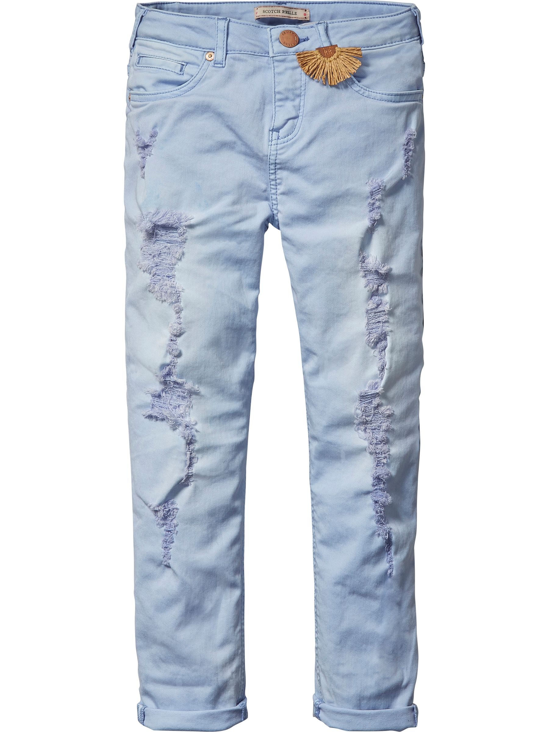 Scotch R'Belle Scotch R'Belle Girls Relaxed Heavy Washed Pants, Blue