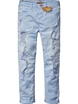 Girls Relaxed Heavy Washed Pants