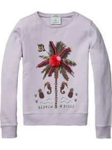 Scotch R'Belle Girls Crew Neck Sweat
