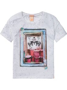 Scotch R'Belle Girls Boxy Fit Tee Photoprint