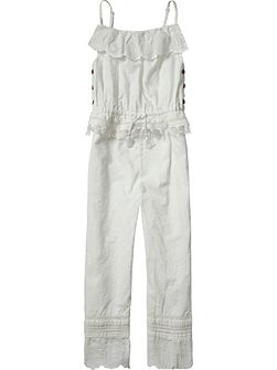 Girls Cotton Jumpsuit