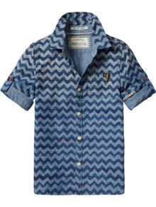 Scotch Shrunk Boys Printed Chambray Shirt