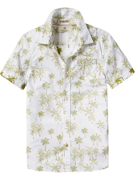 Scotch Shrunk Boys Shirt With All-Over Prints