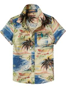 Scotch Shrunk Boys Printed Beachy Shirt