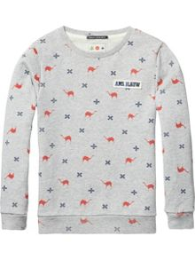 Scotch Shrunk Boys Printed Crew-Neck Sweatshirt