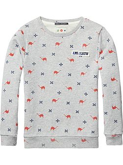 Boys Printed Crew-Neck Sweatshirt