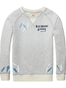Scotch Shrunk Boys Paint Cotton-Melange Sweatshirt