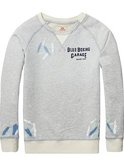 Boys Paint Cotton-Melange Sweatshirt