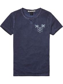 Scotch Shrunk Boys Washed Cotton-Blend T-Shirt