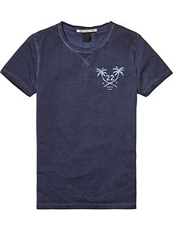 Boys Washed Cotton-Blend T-Shirt