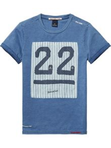 Scotch Shrunk Boys Cotton-Jersey Patch T-Shirt
