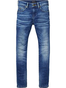 Boys Strummer Skinny-Fit Washed Jeans