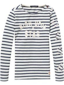 Scotch R'Belle Breton Striped Long Sleeve Tee