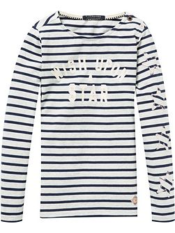 Girls Breton Long-Sleeve T-Shirt