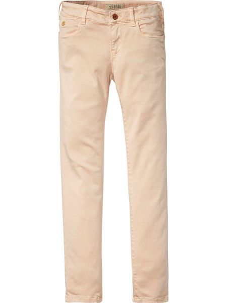 Scotch R'Belle Girls Le Voyage Stretch-Sateen Skinny Jeans