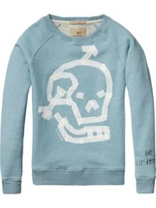 Scotch Shrunk Boys Crew neck rocker sweater