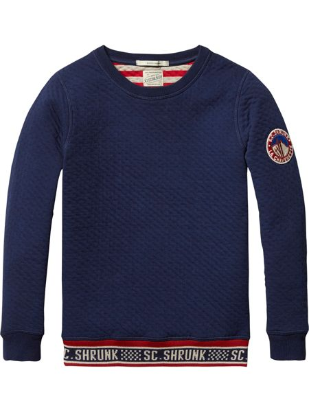 Scotch Shrunk Boys Bonded crew neck sweater