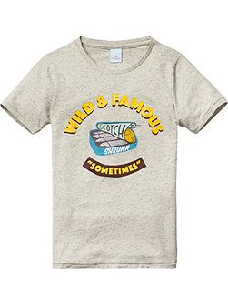 Boys Cotton Artwork T-Shirt