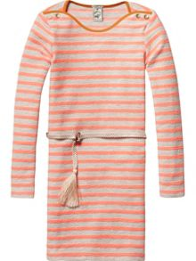 Scotch R'Belle Girls Yarn dye stripe dress
