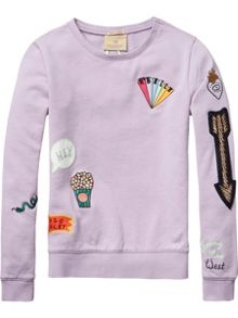 Scotch R'Belle Girls Embellished crew neck jumper