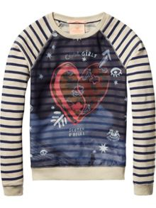 Scotch R'Belle Girls Woven front jumper
