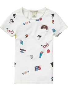 Scotch R'Belle Girls printed t-shirt
