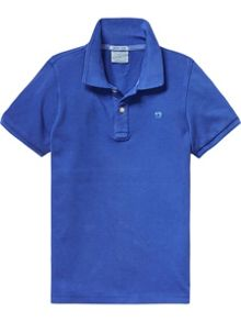 Scotch Shrunk Boys dyed pique polo