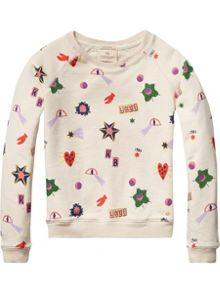 Scotch R'Belle Girls printed Crew neck sweatshirt