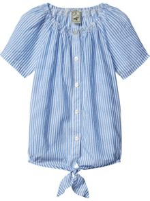 Scotch R'Belle Girls Smocked Neckline Top