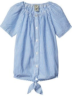 Girls Smocked Neckline Top